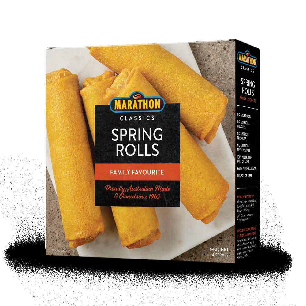 Marathon Spring Rolls 640g – Marathon Foods